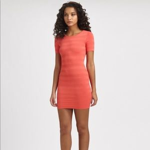 Torn by Ronny kobo / coral candy striped dress